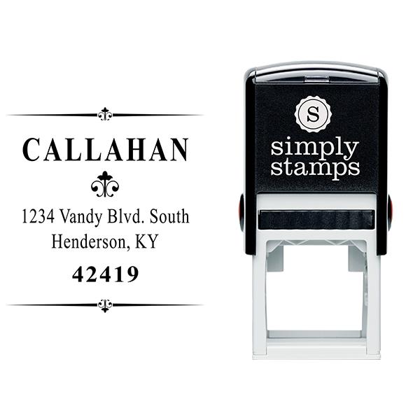 Callahan Vintage Deco Address Stamp Body and Design