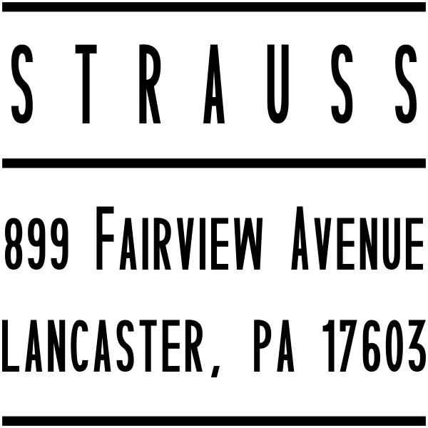 Strauss Modular Address Stamp