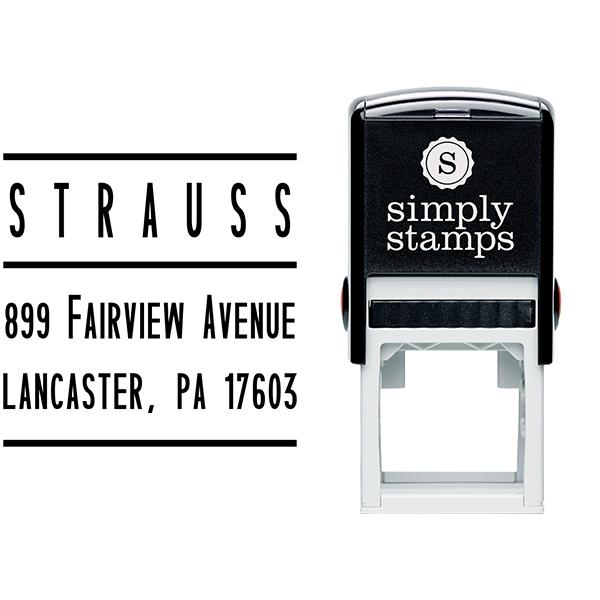 Strauss Modular Address Stamp Body and Design