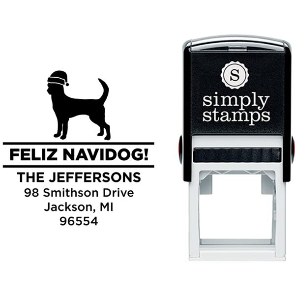 Feliz Navidog Chihuahua Holiday Address Stamp