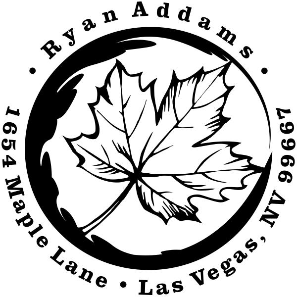 \maple leaf rubber address stamp