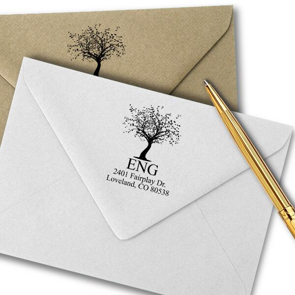 Maple Tree Return Address Stamp Imprint Example