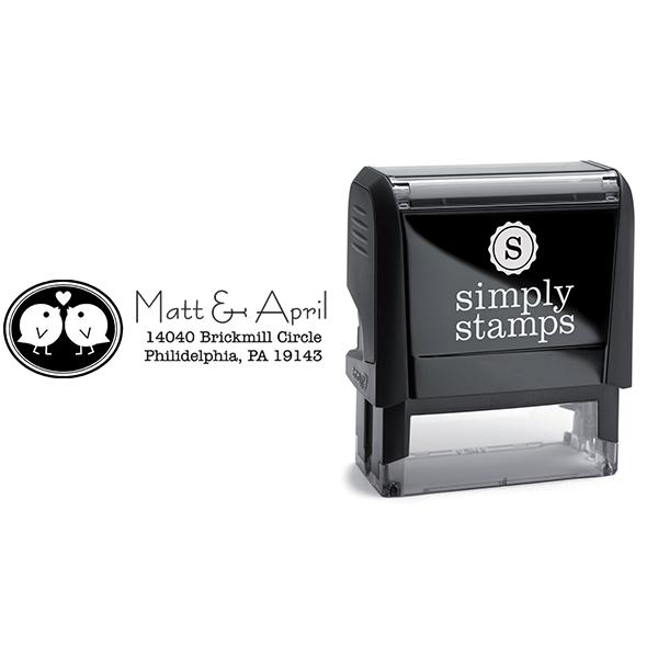 Love Bird Wedding Stamp Body and Design