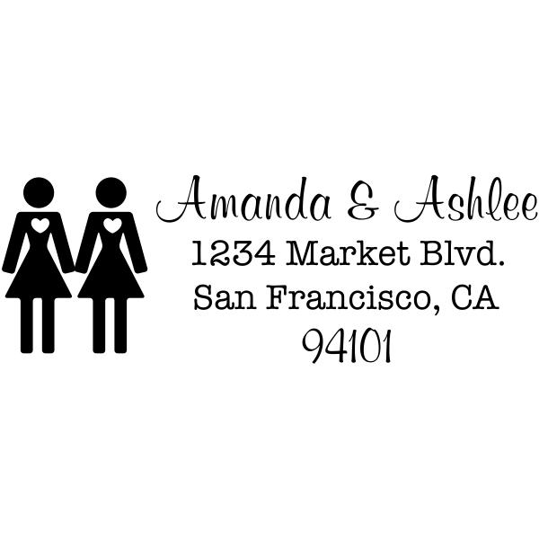 Small Lesbian Icon Return Address Stamp