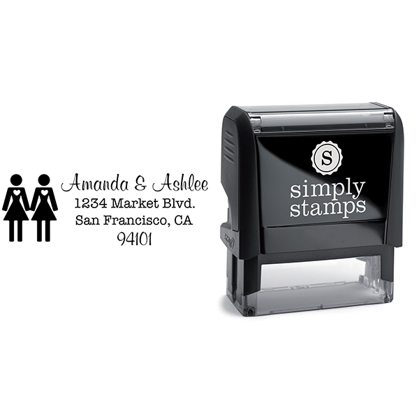 Lesbian Icon Return Address Stamp Body and Design