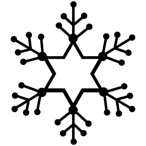 Star Dotted Snowflake Craft Stamp