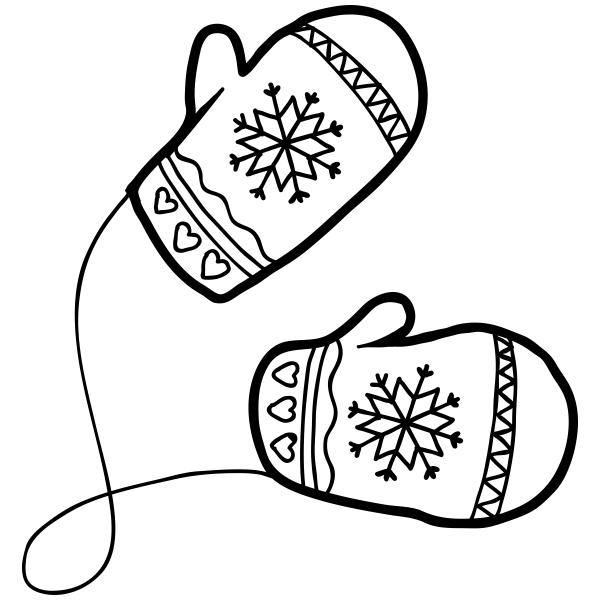 Winter Mittens Craft Stamp