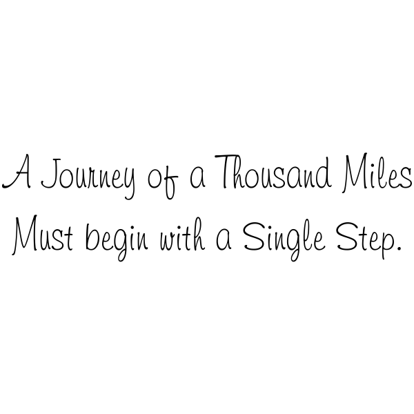 A Journey of a Thousand Miles Rubber Stamp