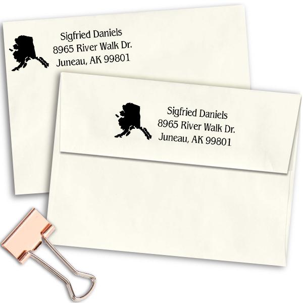 Alaska Return Address Stamp Imprint Example