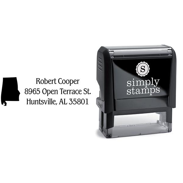 Alabama Return Address Stamp Body and Design