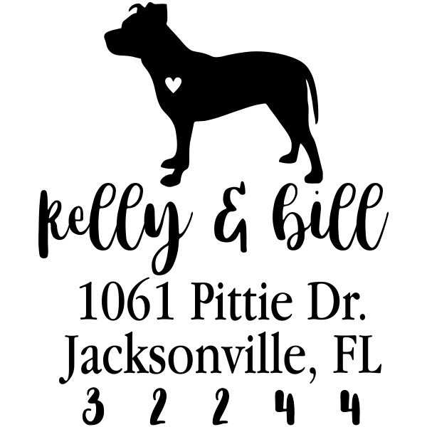 American Pit Bull Love Address Stamp