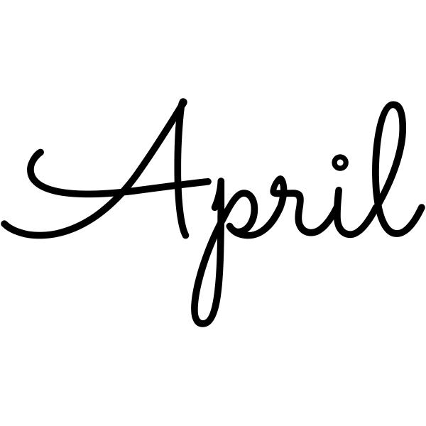April Journal Stamp