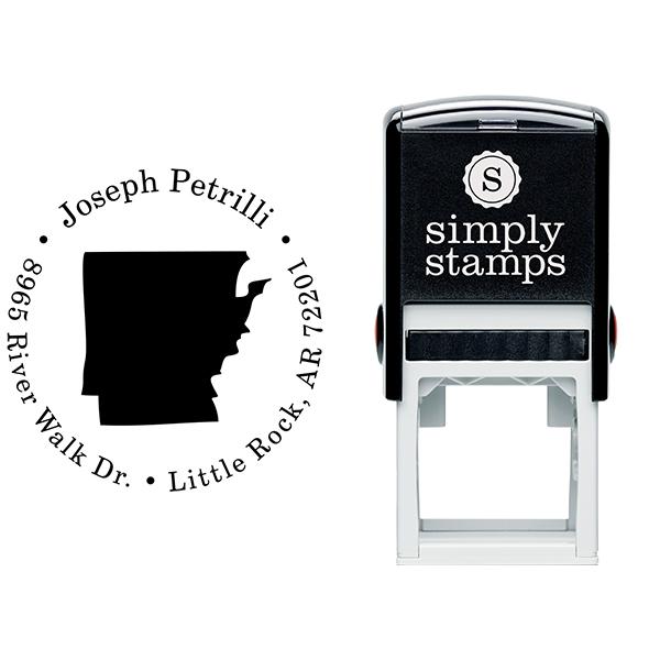Arkansas Round Address Stamp Body and Design