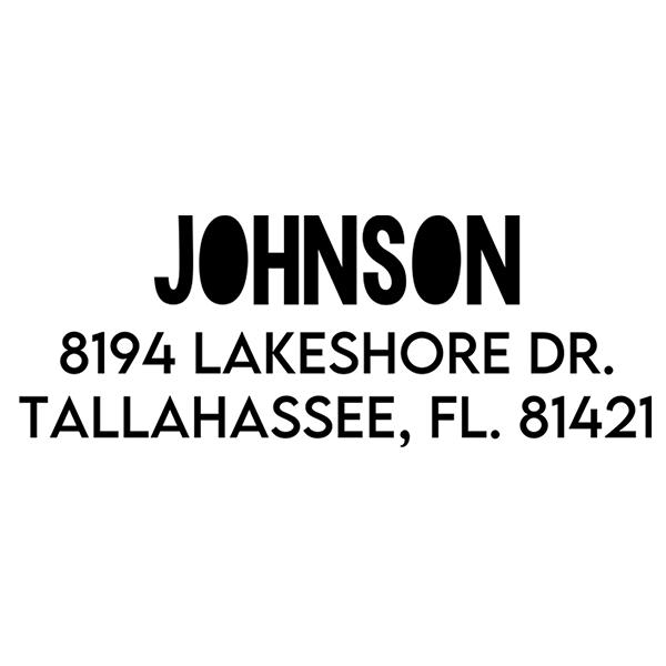 Color Block Custom Address Stamp