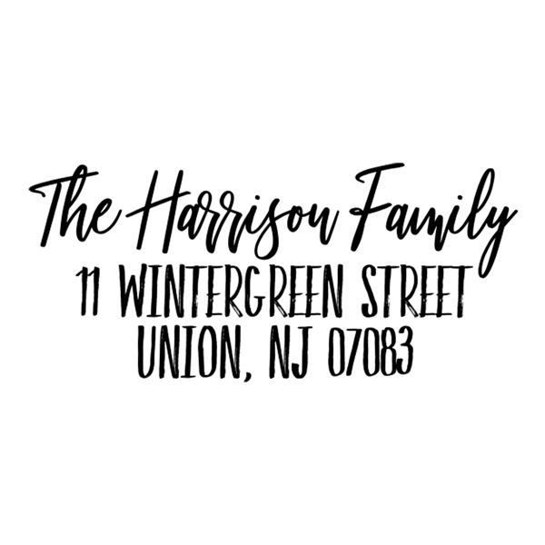 Rustic Script Address Stamp
