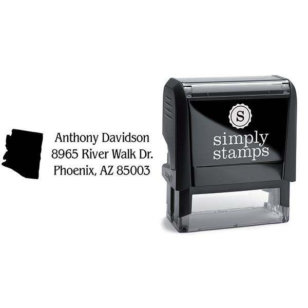 Arizona Return Address Stamp Body and Design