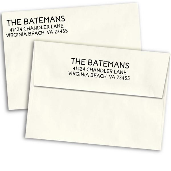 Bateman Bold Script Address Stamp
