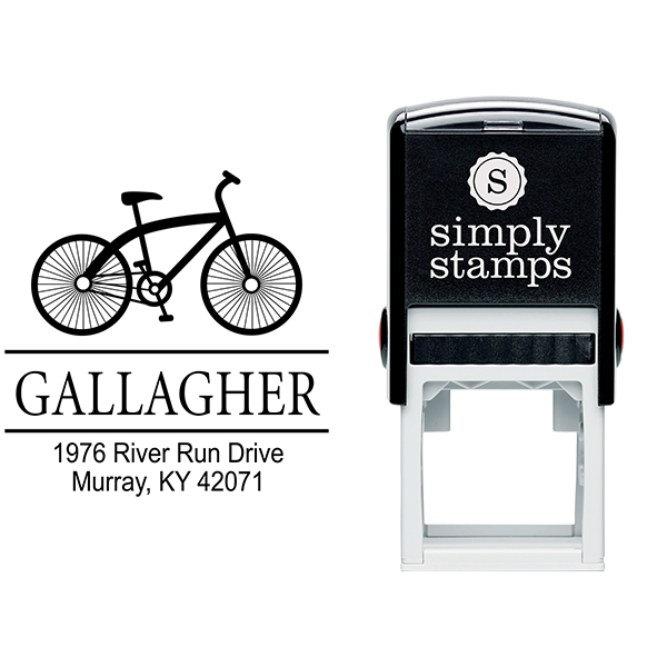 Gallagher Bicycle Return Address Stamp Body and Design