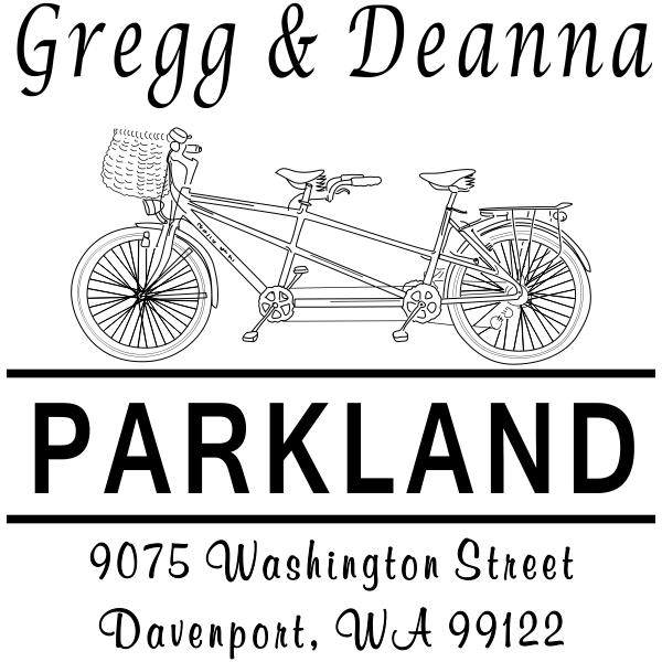 Bicycle Built for Two Return Address Stamp