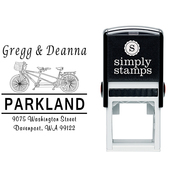 Bicycle Built for Two Address Stamp Body and Design