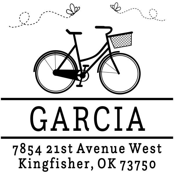 Garcia Bicycle Custom Address Stamper