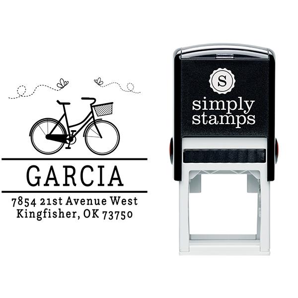 Garcia Bicycle Return Address Stamp Body and Design