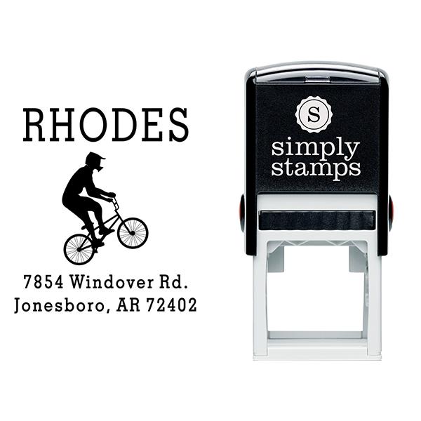 BMX Stunt Bicycle Return Address Stamp Body and Design