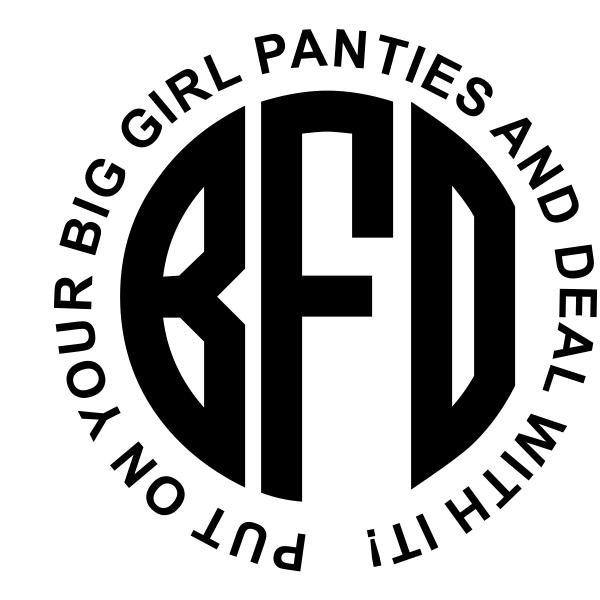 Big Girl Panties Monogram Rubber Stamp