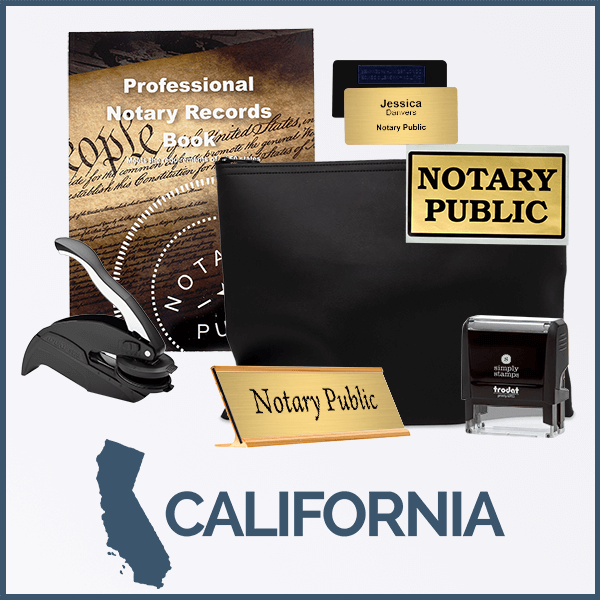 California Deluxe Notary Kit
