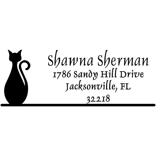 Bottle Shape Cat Address Stamper