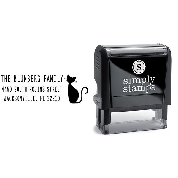 Blumberg Cat Address Stamp Body and Design