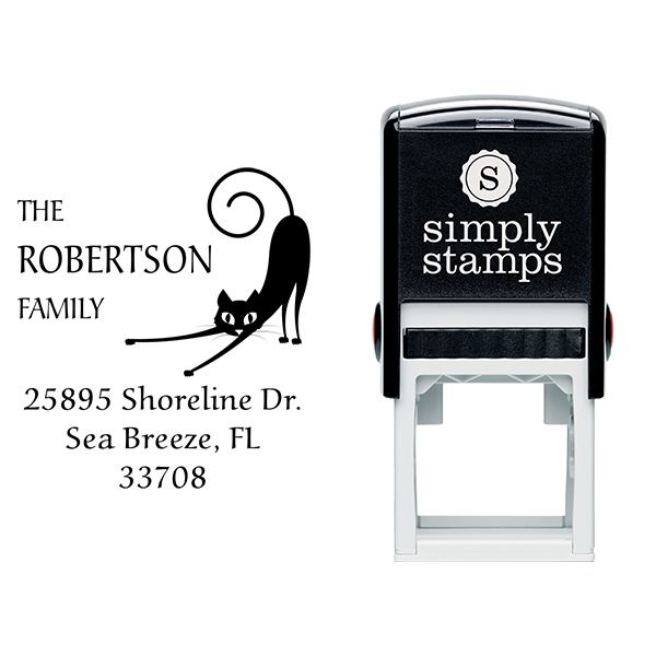 Spastic Cat Address Stamp Body and Design