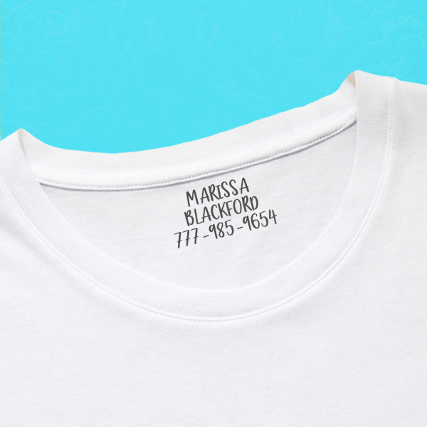 Cute 3 Line Clothing Stamp with Shirt