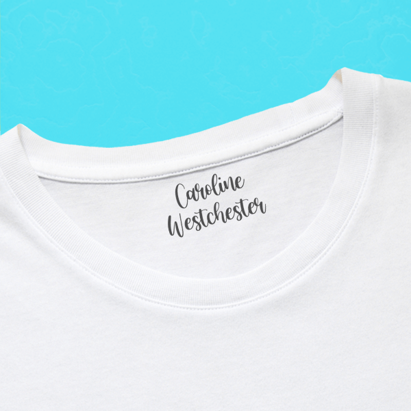 Fun 2 Line Clothing Stamp with Shirt
