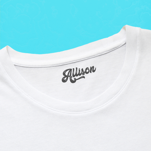 Retro Clothing Stamp with Shirt