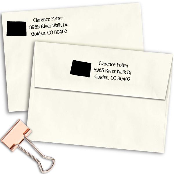 Colorado Return Address Stamp Imprint Example