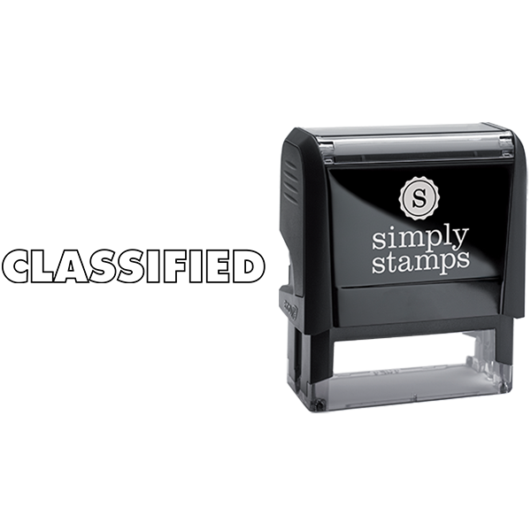Classified in Outlined Lettering Business Stamp