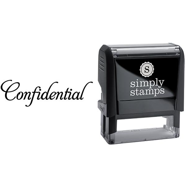 Confidential in Elegant Lettering Business Stamp