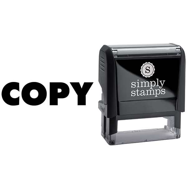 Copy in Extended Block Lettering Business Stamp