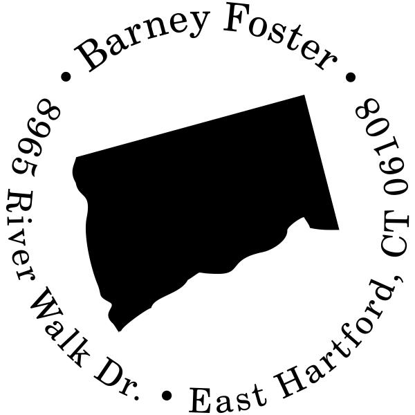 Connecticut Round Address Stamp