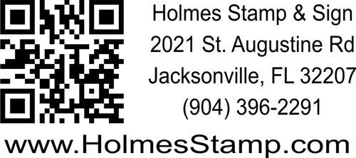 "QR Code Stamp - 3"" x 1.5"""