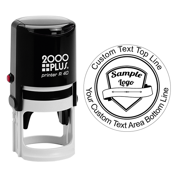 Custom Rubber Logo Stamp - Double Lines