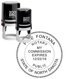 North Dakota Round Notary Stamp