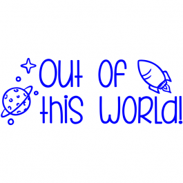 Space Pun Teacher Stamp