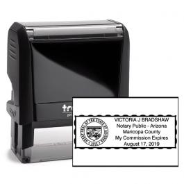 Arizona Notary Rectangular Stamp