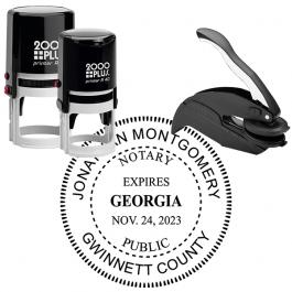 Georgia Notary Round with Expiration Seal