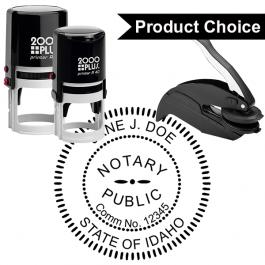 Idaho Notary Round Seal