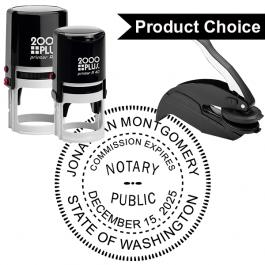 Washington State Notary Round Seal
