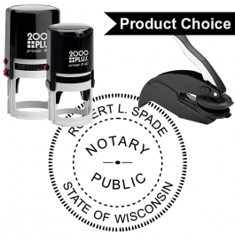 Wisconsin Notary Round Seal