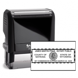 Wyoming Notary Rectangle Seal